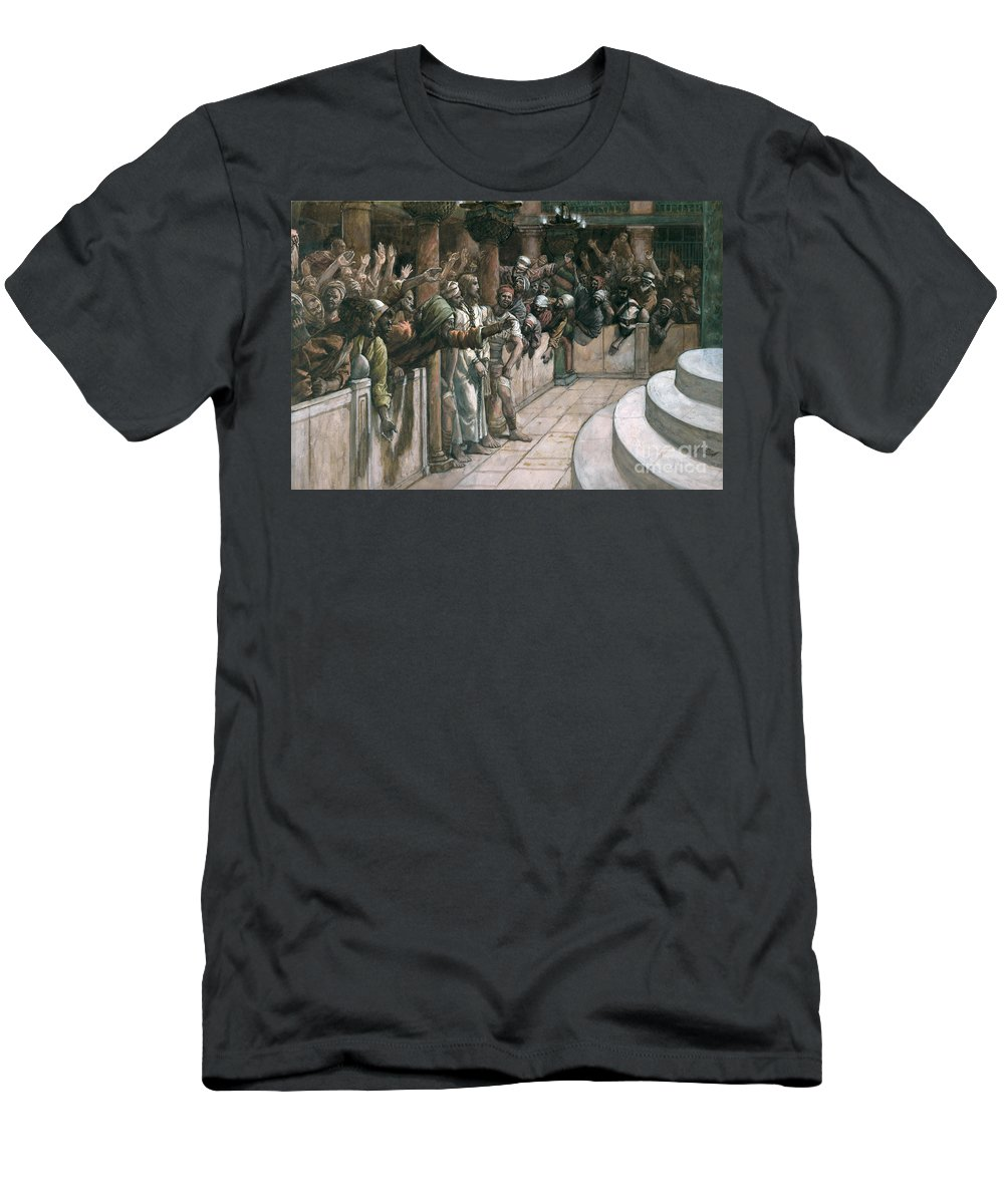 The Men's T-Shirt (Athletic Fit) featuring the painting The False Witness by Tissot