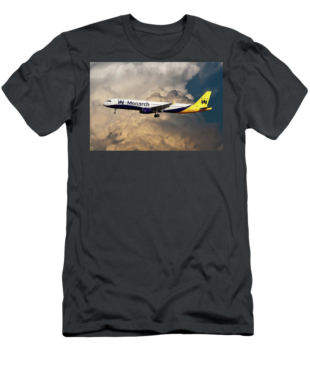 Monarch Airlines T-Shirt featuring the photograph The Final Flight by Smart Aviation