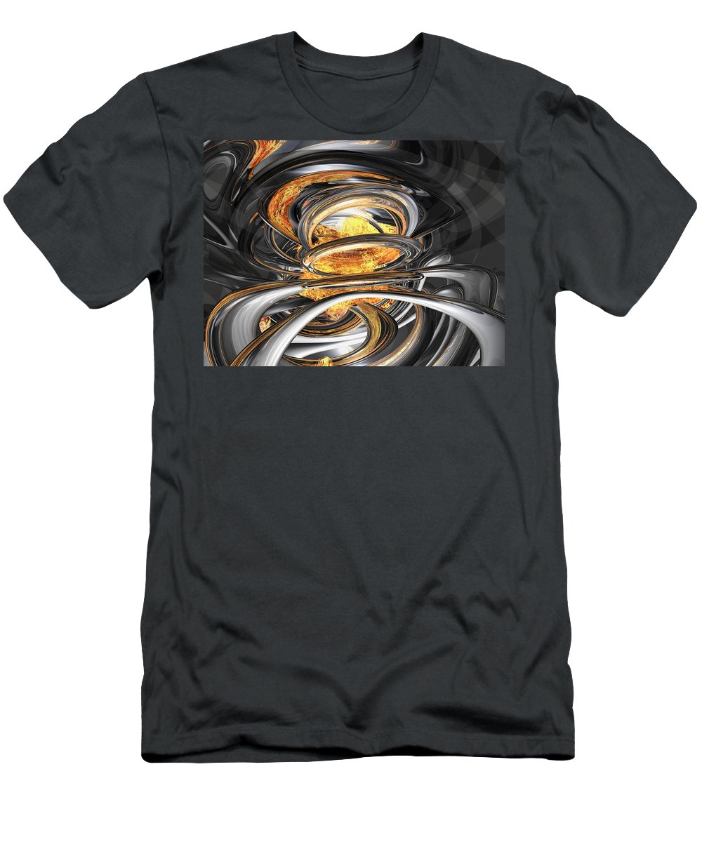 3d Men's T-Shirt (Athletic Fit) featuring the digital art The Fire Within Abstract by Alexander Butler