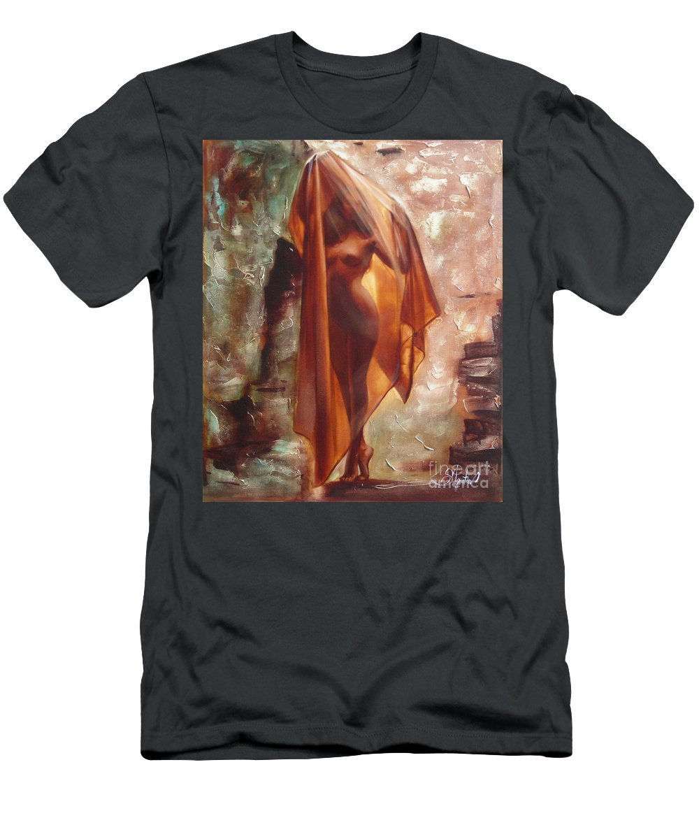 Ignatenko Men's T-Shirt (Athletic Fit) featuring the painting The Garden Of Stones by Sergey Ignatenko