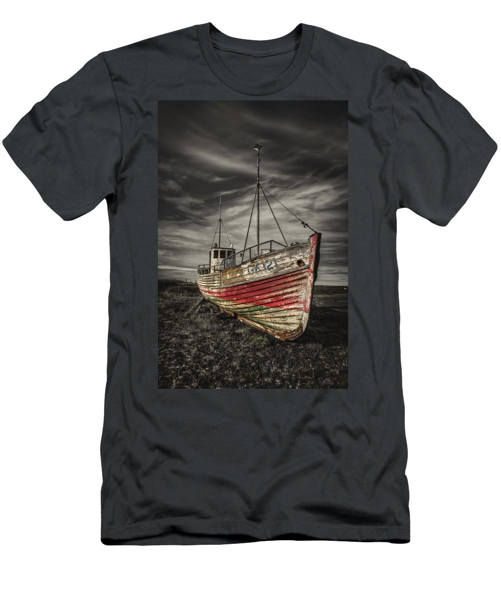Boat Men's T-Shirt (Athletic Fit) featuring the photograph The Ghost Ship by Evelina Kremsdorf