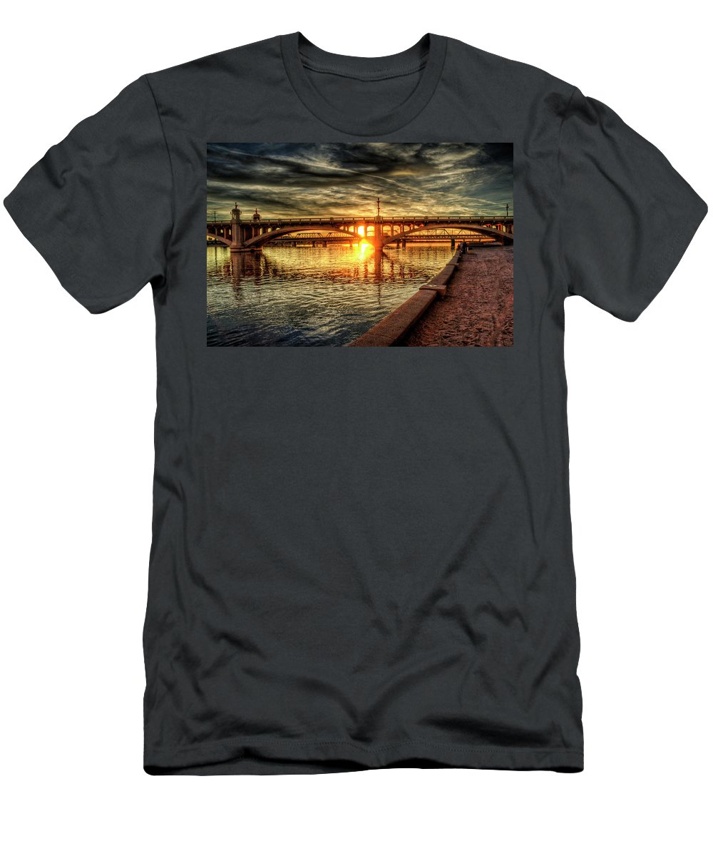 Arizona Men's T-Shirt (Athletic Fit) featuring the photograph The Golden Hour by Saija Lehtonen