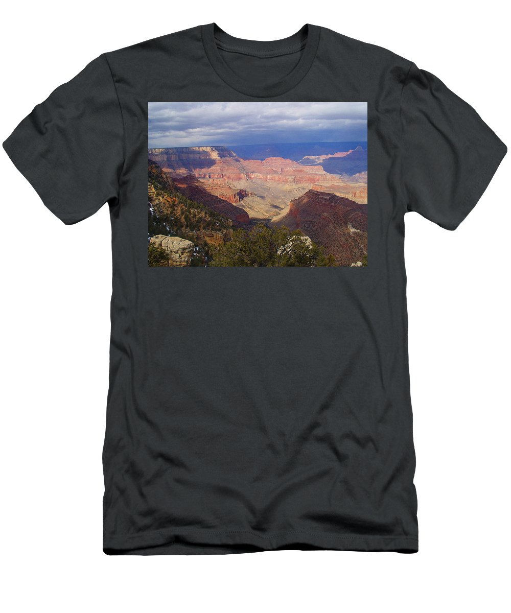 Grand Canyon Men's T-Shirt (Athletic Fit) featuring the photograph The Grand Canyon by Marna Edwards Flavell