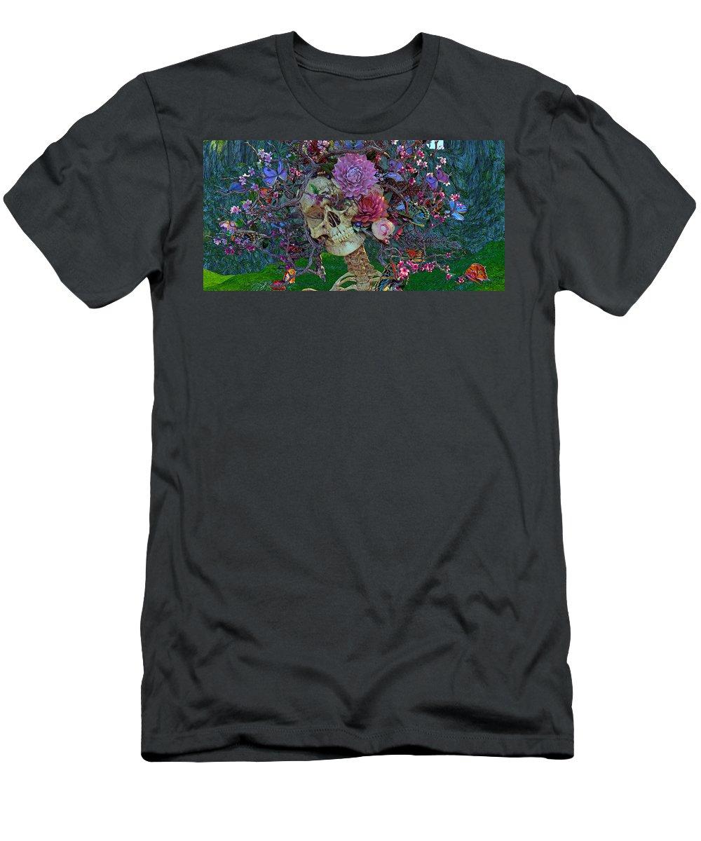Skull Men's T-Shirt (Athletic Fit) featuring the digital art Fugitive From Society by Betsy Knapp