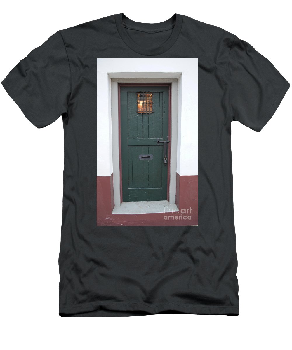 Historic Men's T-Shirt (Athletic Fit) featuring the photograph The Green Door by Jost Houk
