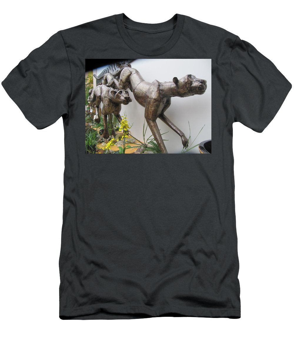 Wild Things Men's T-Shirt (Athletic Fit) featuring the painting The Hunt Is On . by Errol Jameson