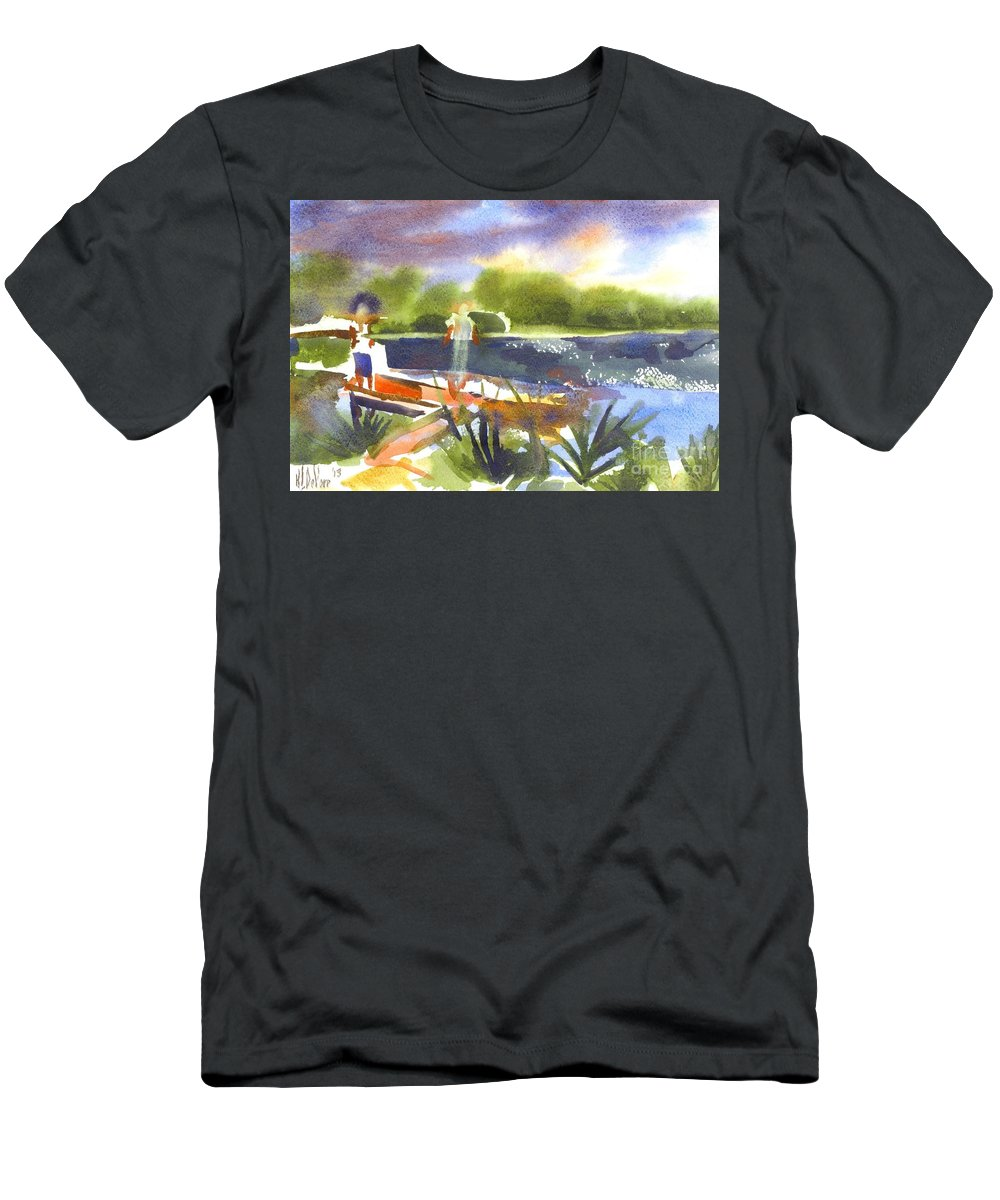 The Ideal Catch Men's T-Shirt (Athletic Fit) featuring the painting The Ideal Catch by Kip DeVore