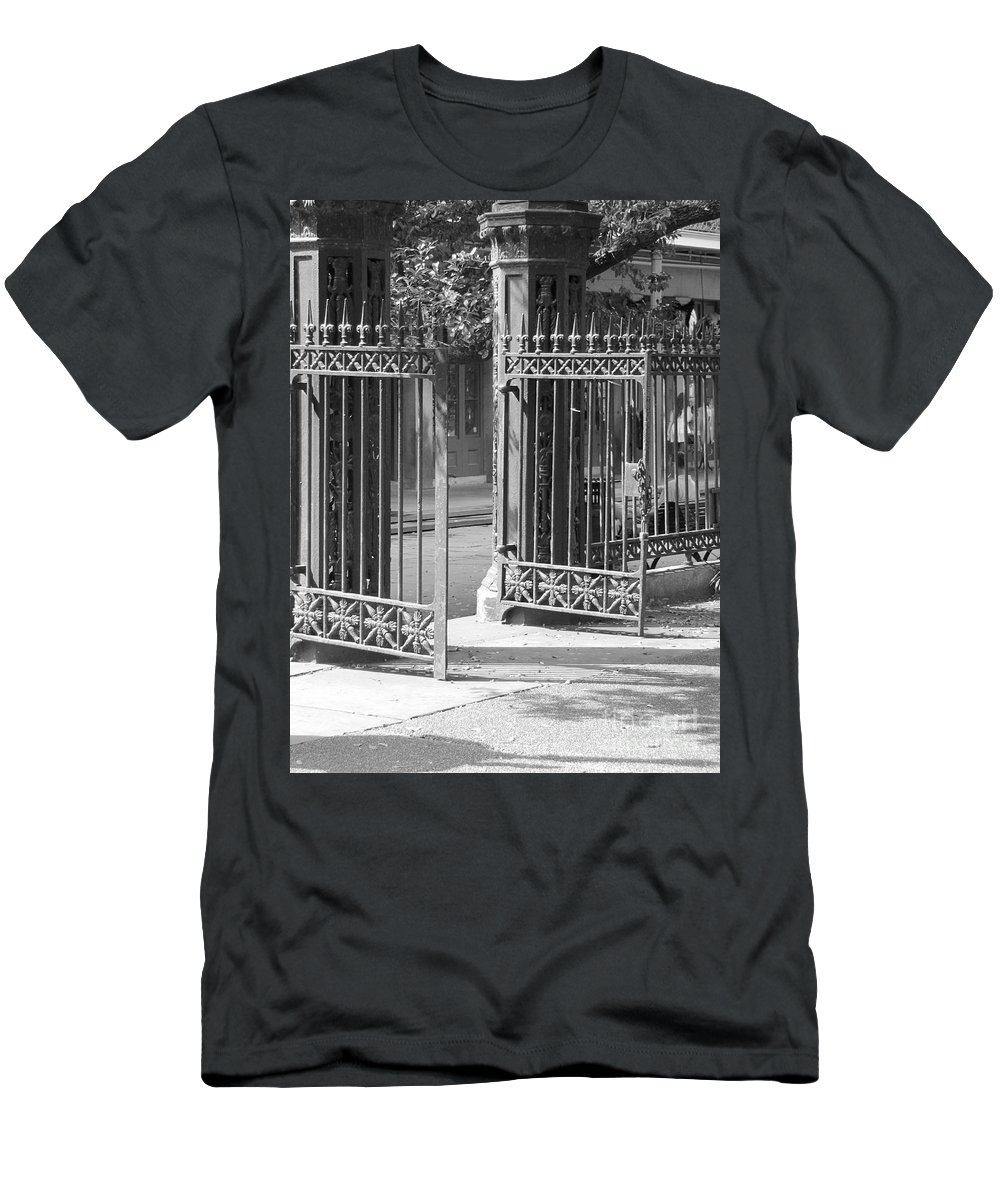 French Quarter Men's T-Shirt (Athletic Fit) featuring the photograph The Iron Gates by Michelle Powell