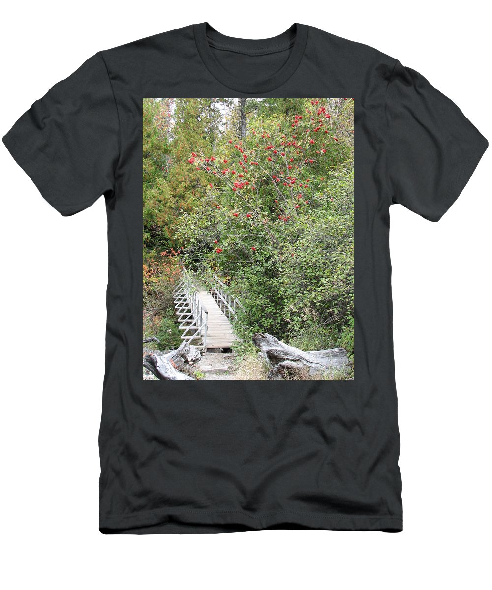 Bridge Men's T-Shirt (Athletic Fit) featuring the photograph The Journey by Kelly Mezzapelle