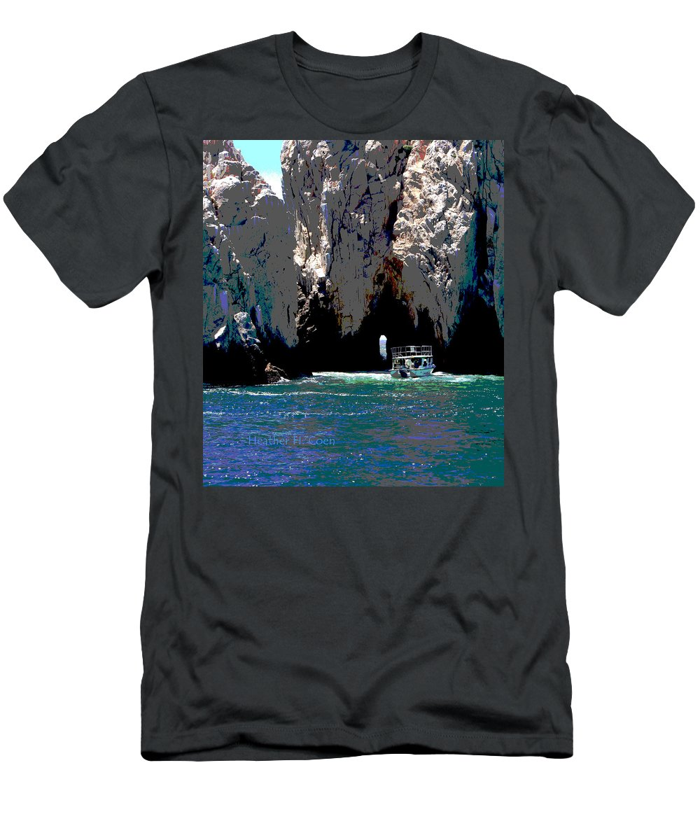 Mexico Men's T-Shirt (Athletic Fit) featuring the photograph The Keyhole Mexico Cabo San Lucas by Heather Coen