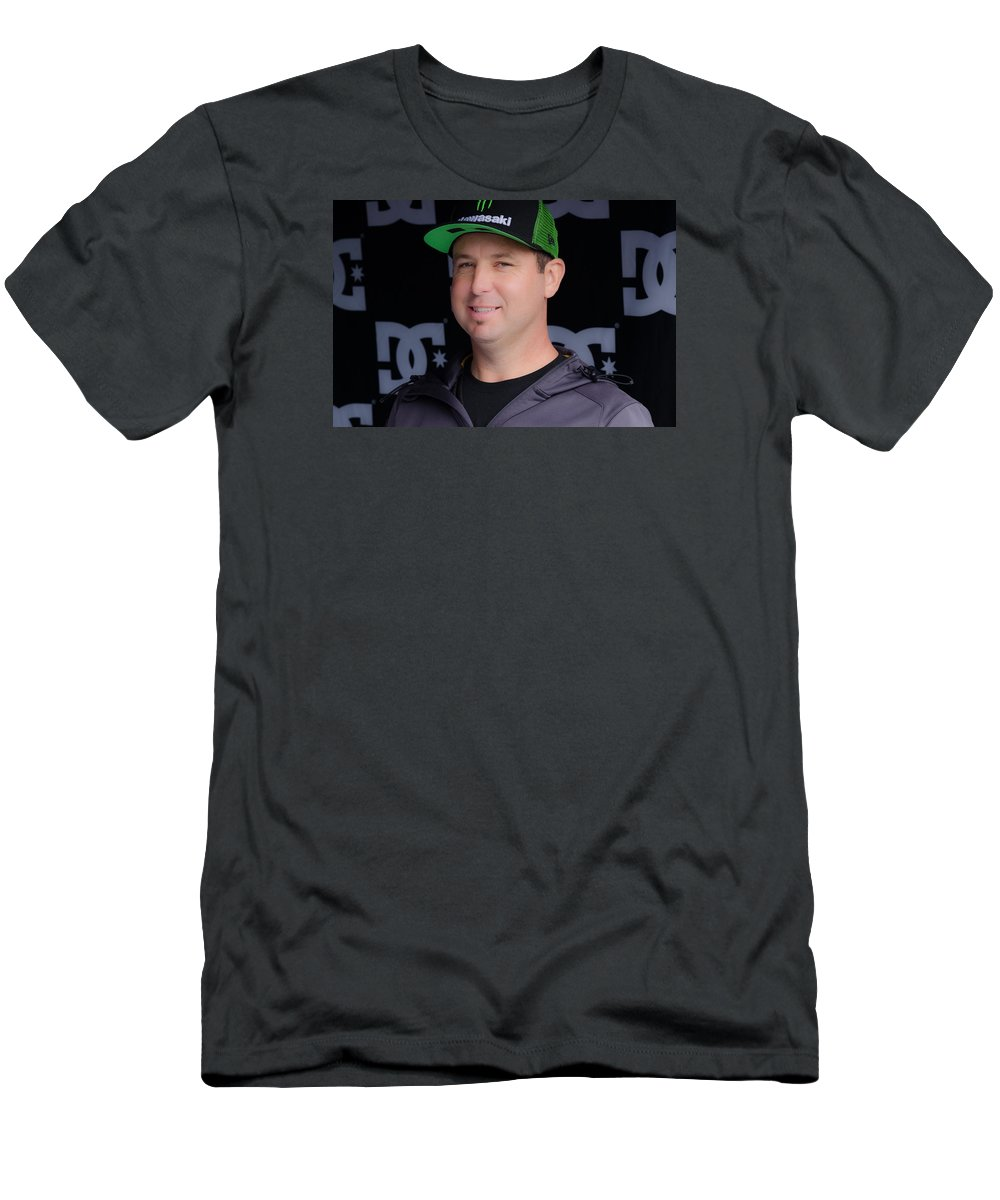 Supercross Men's T-Shirt (Athletic Fit) featuring the photograph The King Of Supercross by Christina Bailey