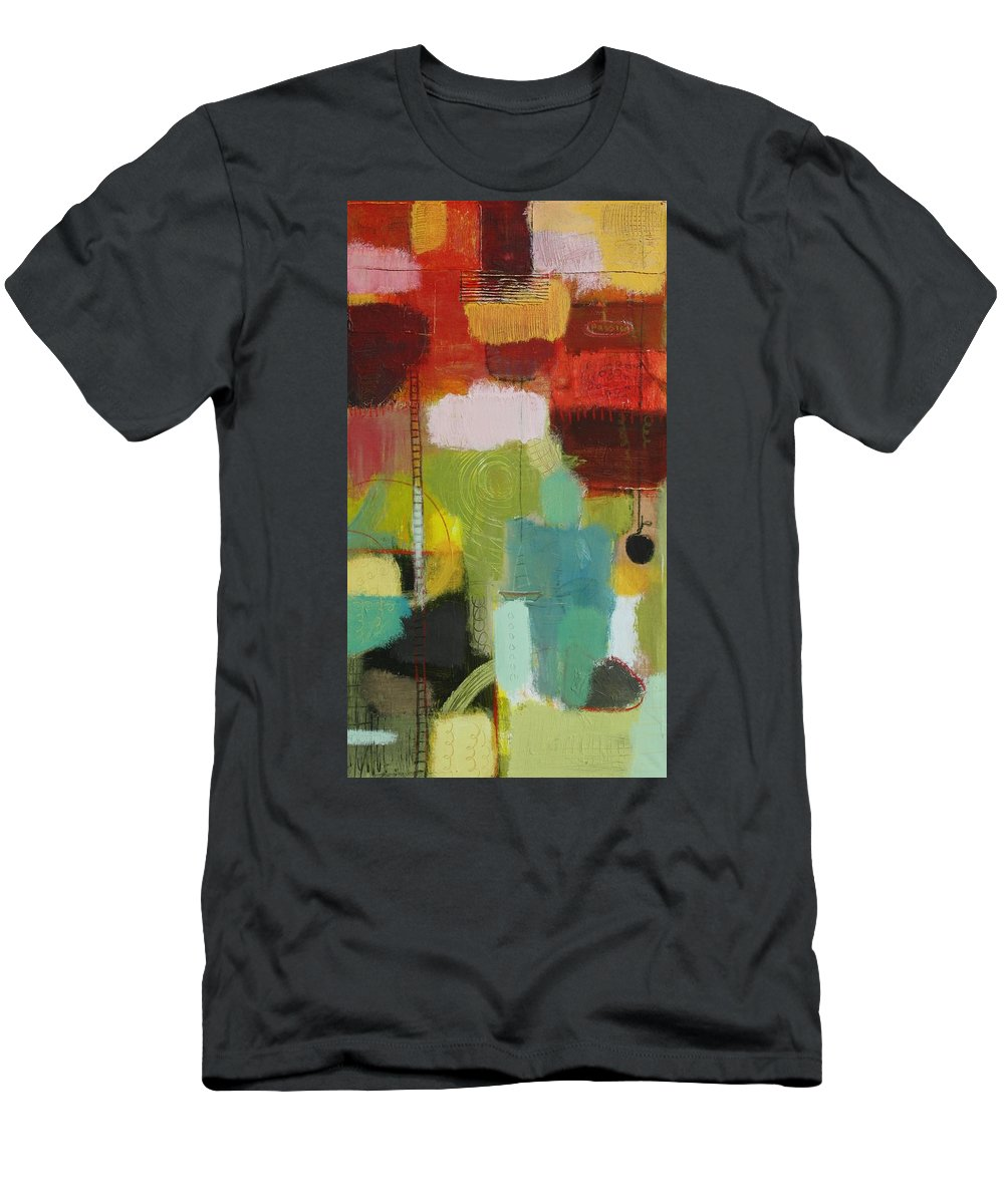 Abstract Men's T-Shirt (Athletic Fit) featuring the painting The Ladder Of Life by Habib Ayat