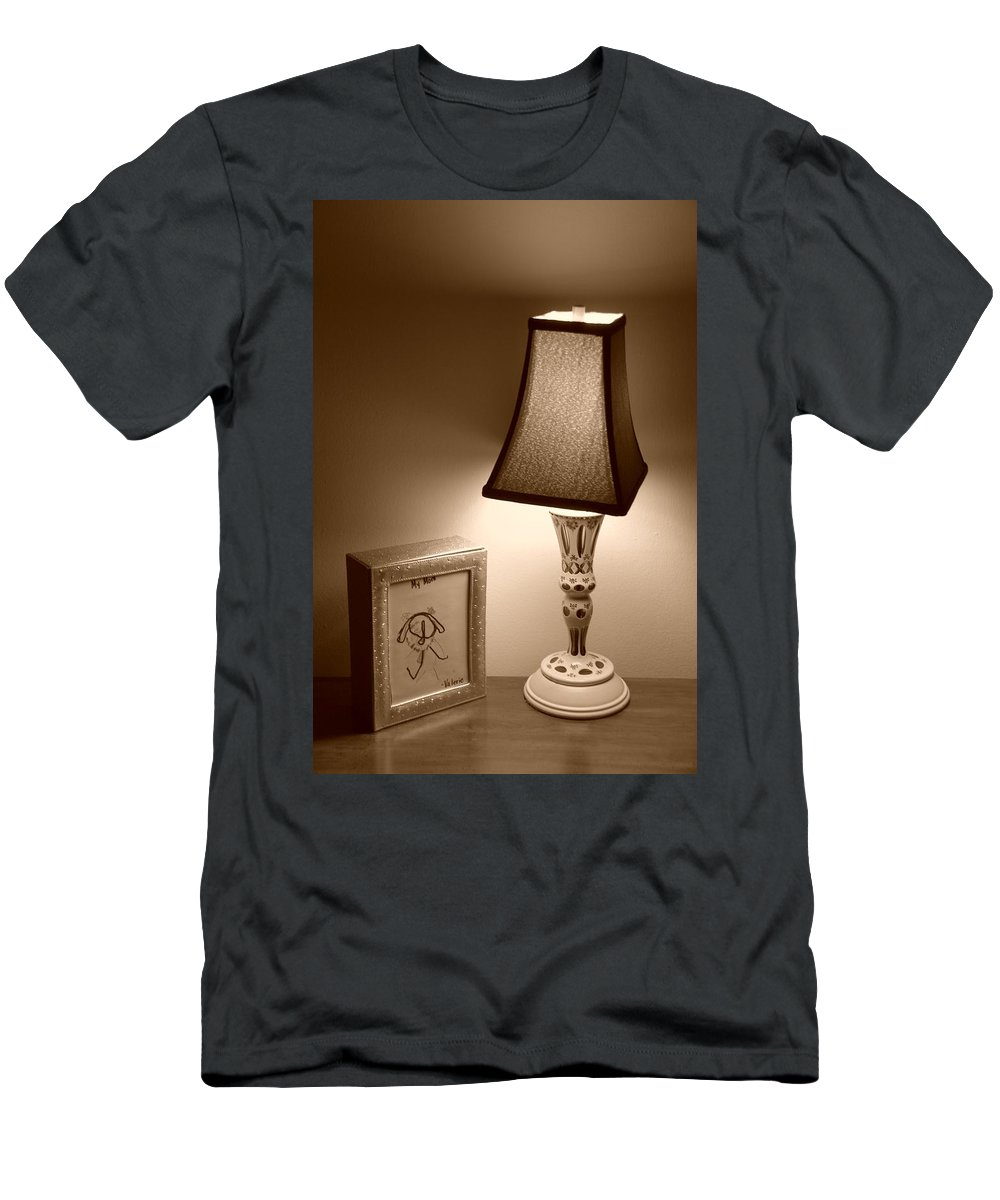 Lights Men's T-Shirt (Athletic Fit) featuring the photograph The Lamp by Rob Hans