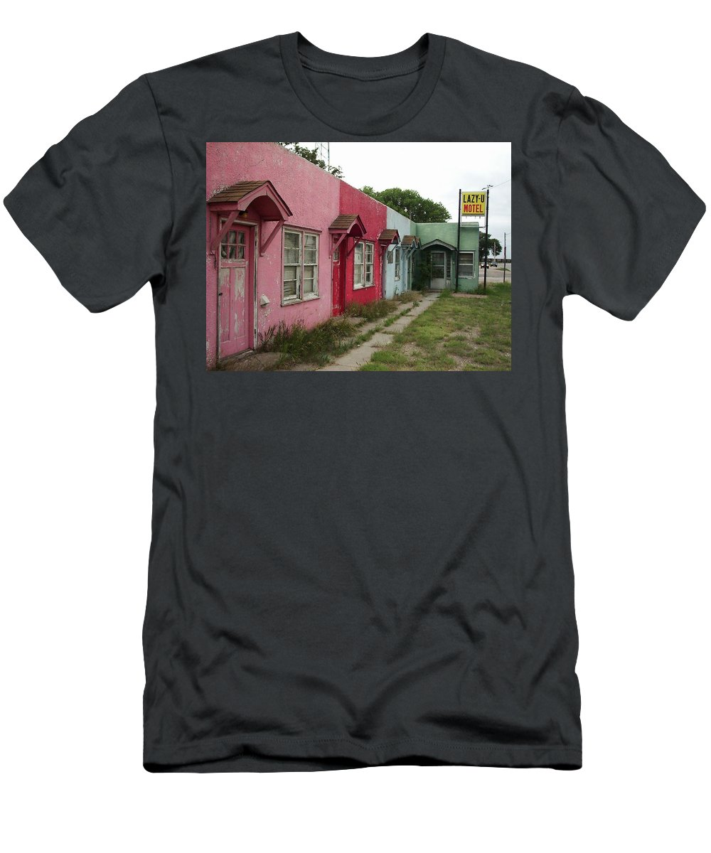Motel Men's T-Shirt (Athletic Fit) featuring the photograph The Lazy U by Cindy New