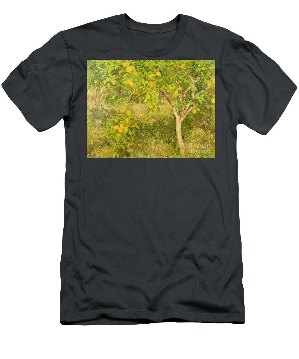 The Men's T-Shirt (Athletic Fit) featuring the painting The Lemon Tree by Henry Scott Tuke