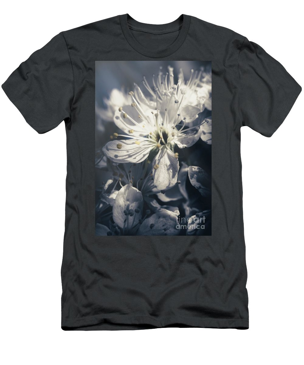 Blue T-Shirt featuring the photograph The Light Of Spring Petals by Jorgo Photography - Wall Art Gallery