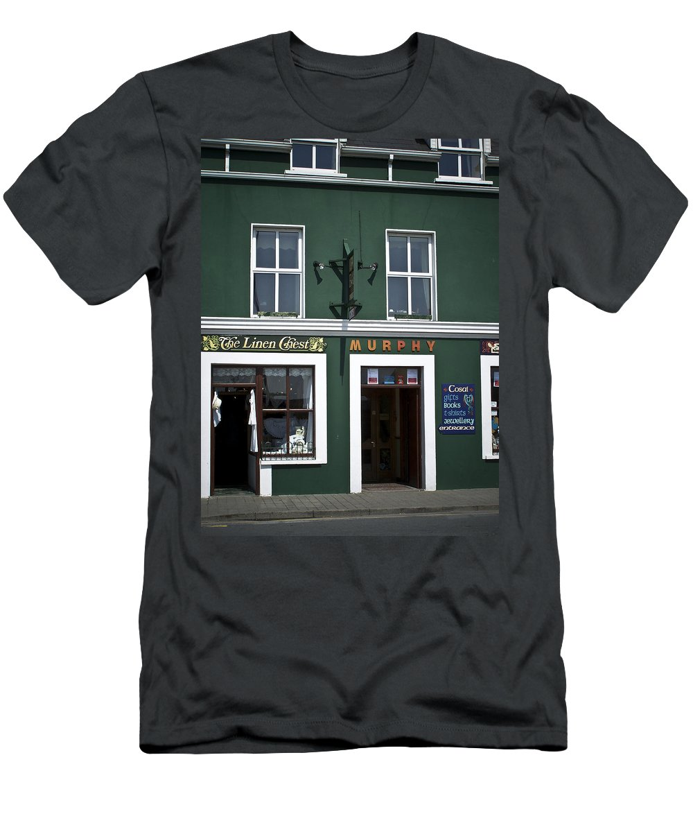 Irish Men's T-Shirt (Athletic Fit) featuring the photograph The Linen Chest Dingle Ireland by Teresa Mucha