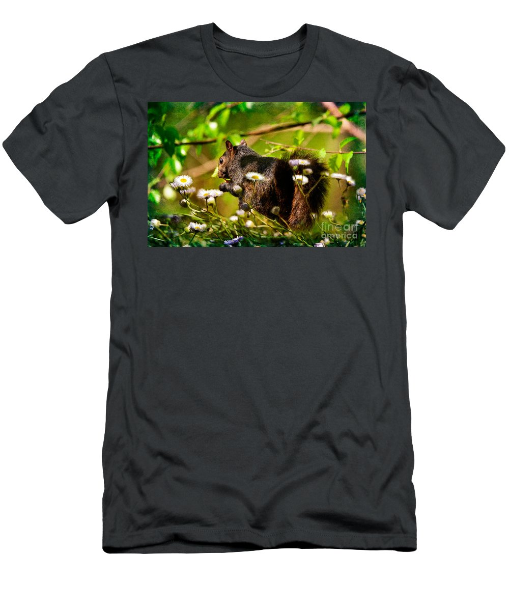 Squirrel Men's T-Shirt (Athletic Fit) featuring the photograph The Little Things by Lois Bryan