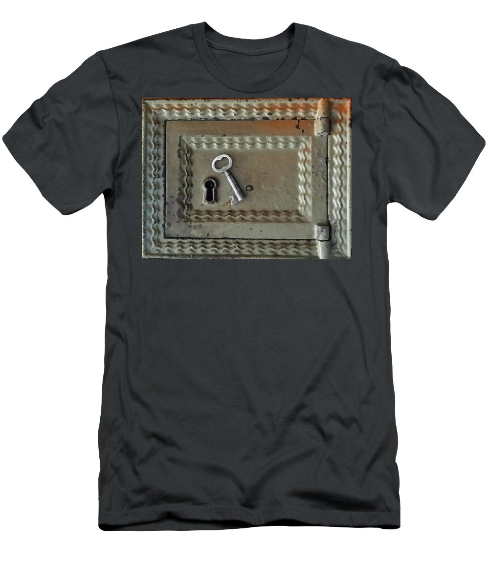 Lock Men's T-Shirt (Athletic Fit) featuring the photograph The Lock Box by Rob Hans
