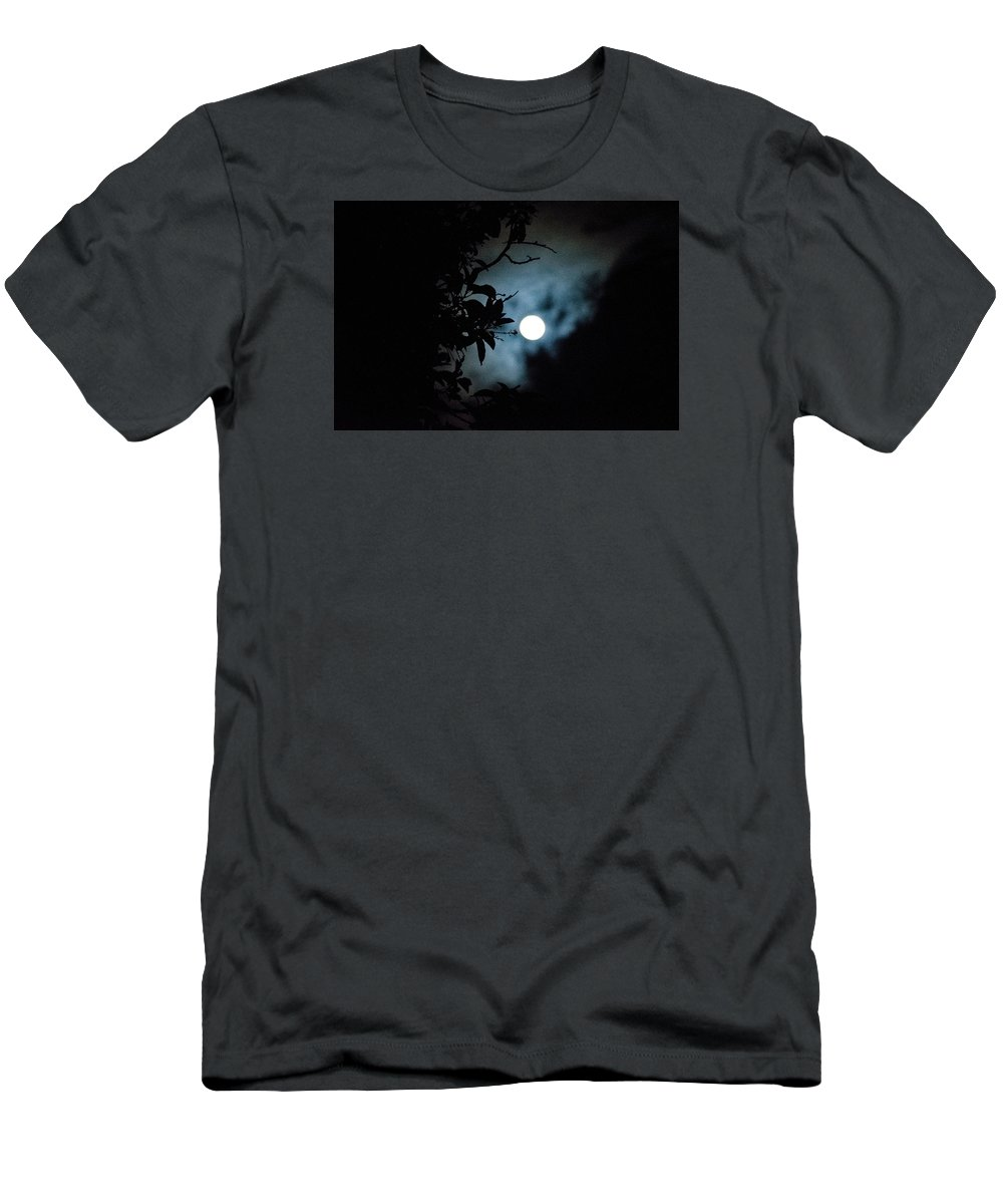 The Moon Men's T-Shirt (Athletic Fit) featuring the photograph The Moon - La Luna 12 by Totto Ponce