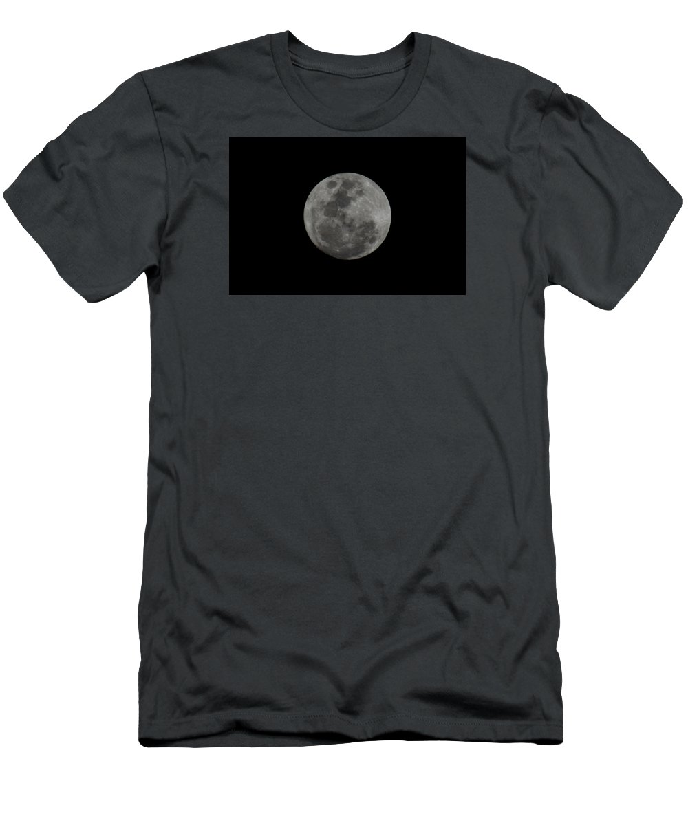 The Moon Men's T-Shirt (Athletic Fit) featuring the photograph The Moon - La Luna 9 by Totto Ponce