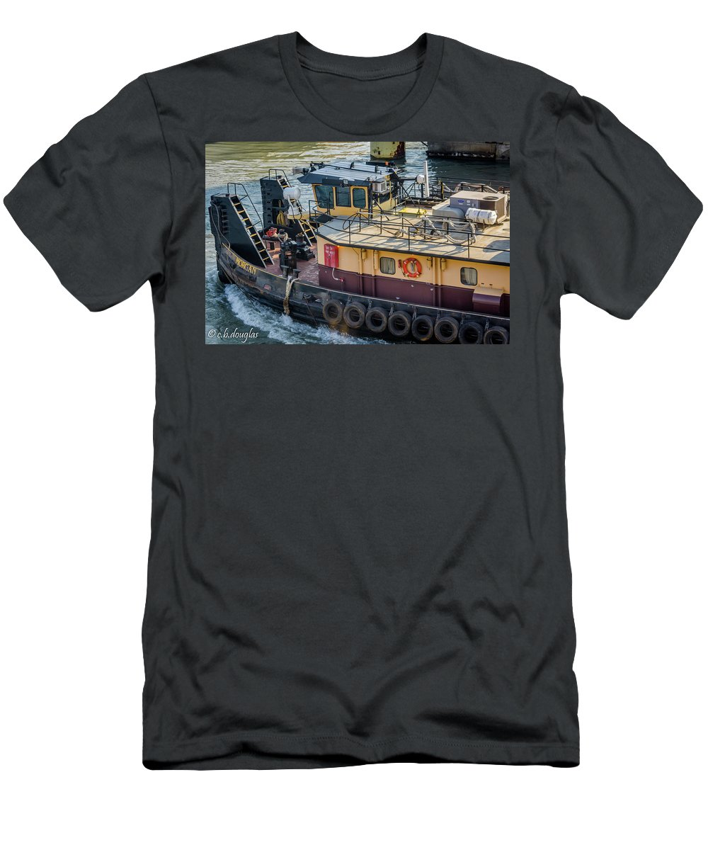 Men's T-Shirt (Athletic Fit) featuring the photograph The Morgan On The Calumet River by Christine Douglas