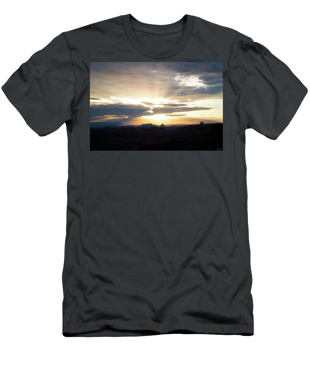 Adventure Men's T-Shirt (Athletic Fit) featuring the photograph The Morning Streak by Mumbles and Grumbles