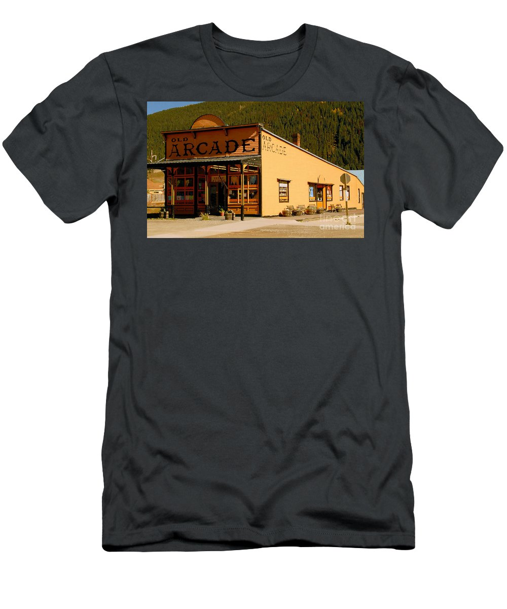 Arcade Men's T-Shirt (Athletic Fit) featuring the photograph The Old Arcade by David Lee Thompson