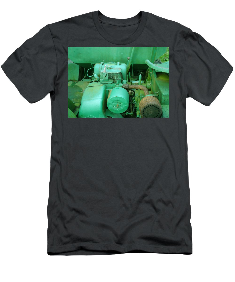 Machine Men's T-Shirt (Athletic Fit) featuring the photograph The Old Green Dumper by Susan Baker