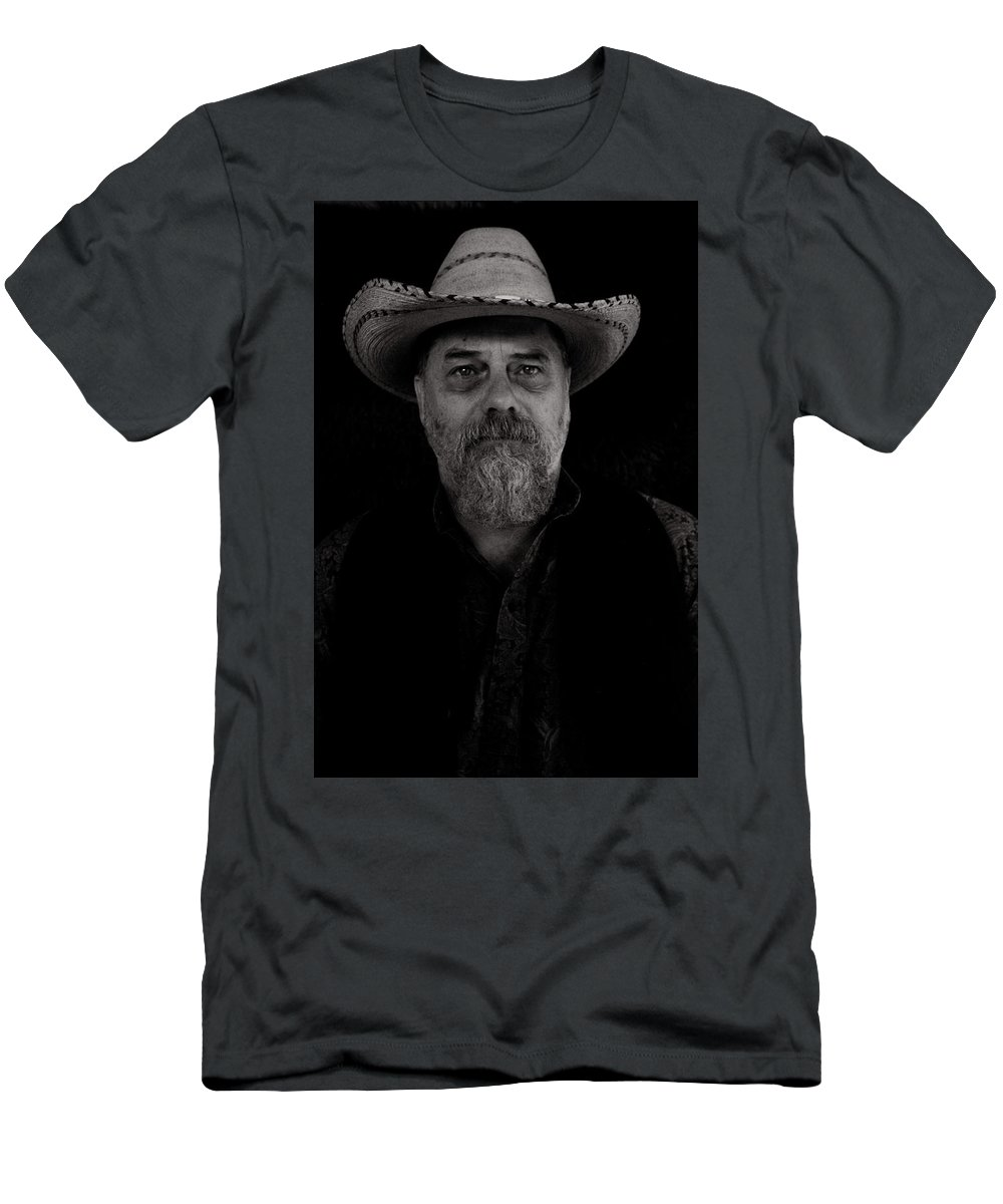 People Men's T-Shirt (Athletic Fit) featuring the photograph The Old West by Samantha Burrow