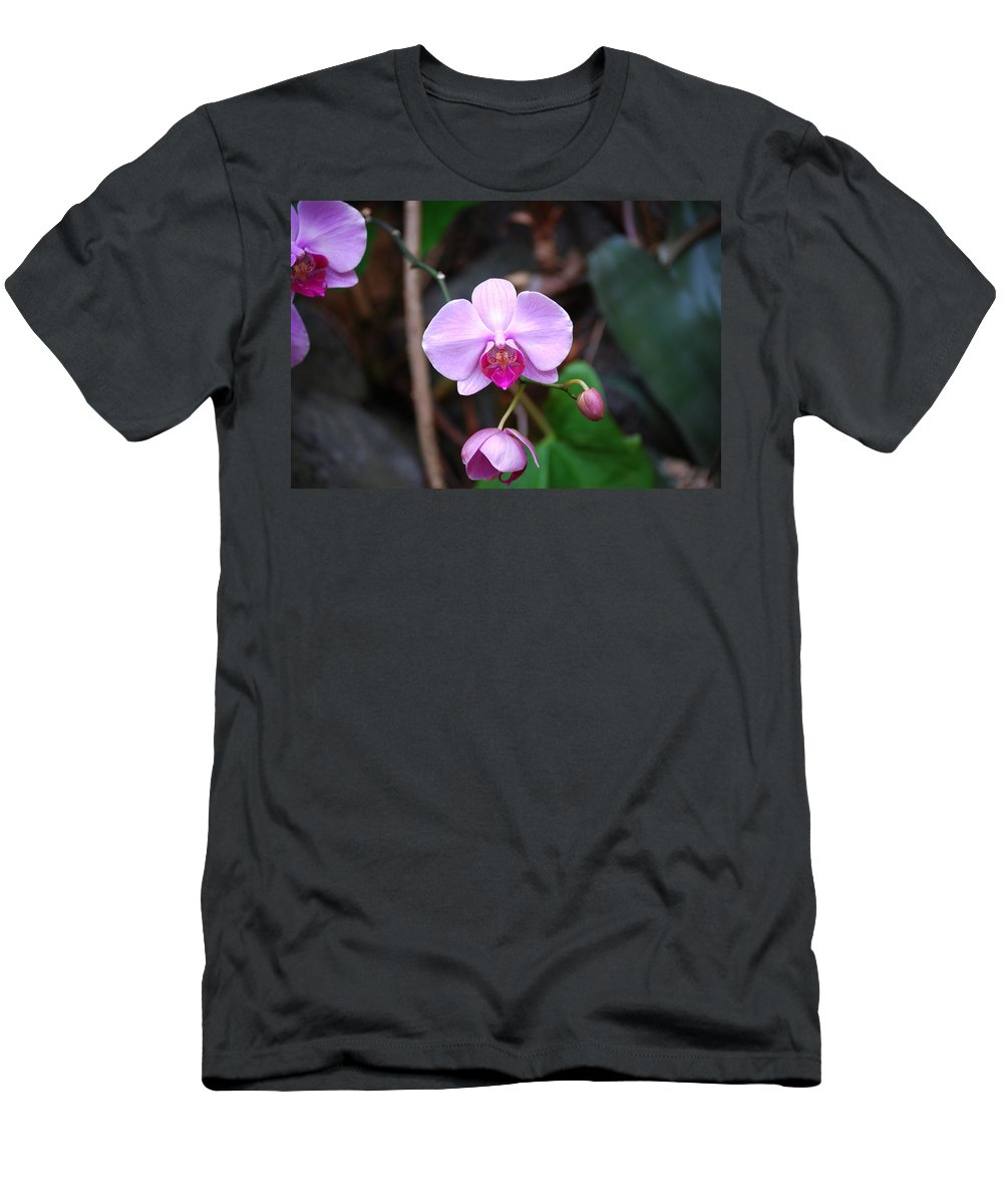 Orchid Men's T-Shirt (Athletic Fit) featuring the photograph The Orchid by Eric Liller