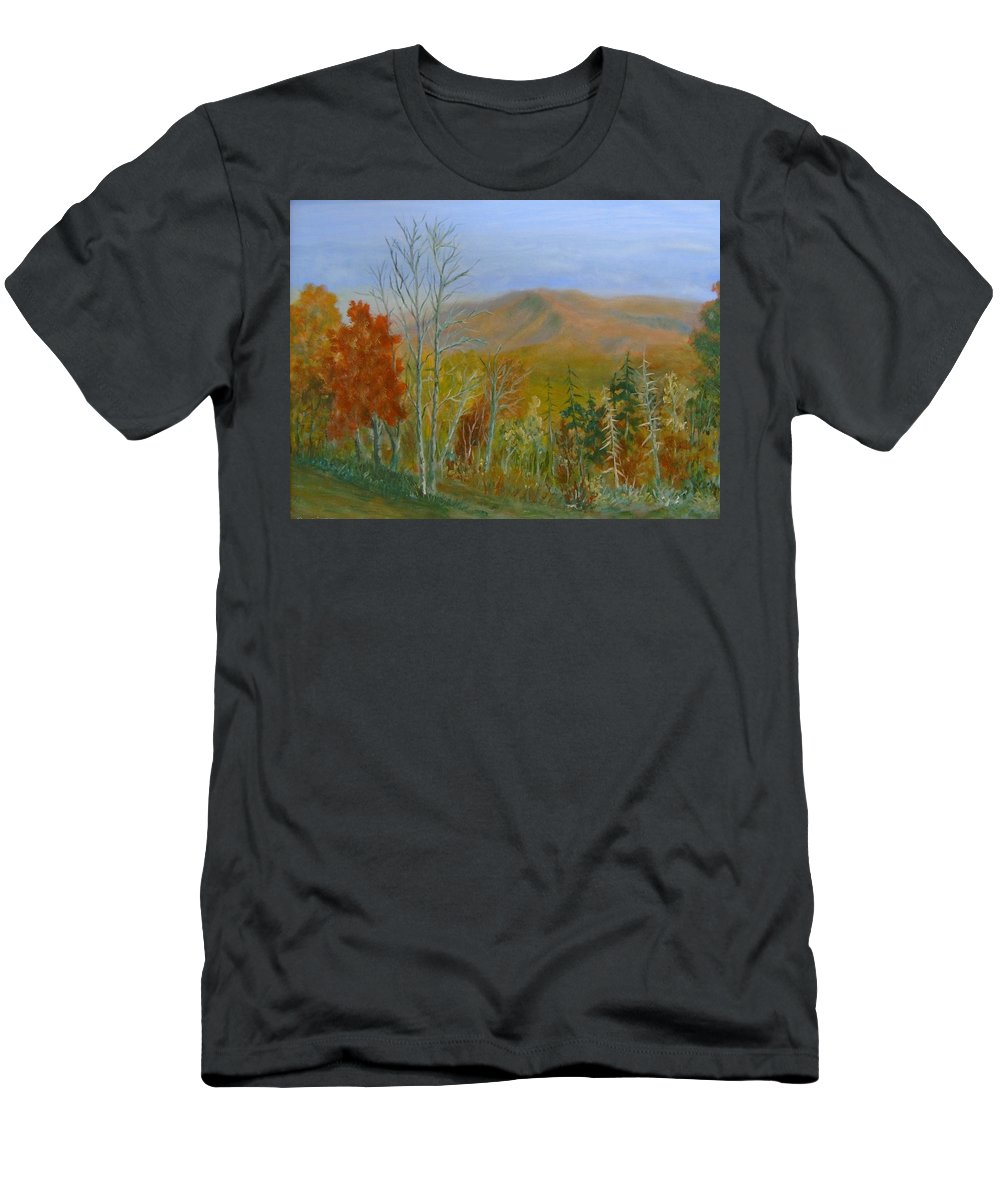 Mountains; Trees; Fall Colors T-Shirt featuring the painting The Parkway View by Ben Kiger