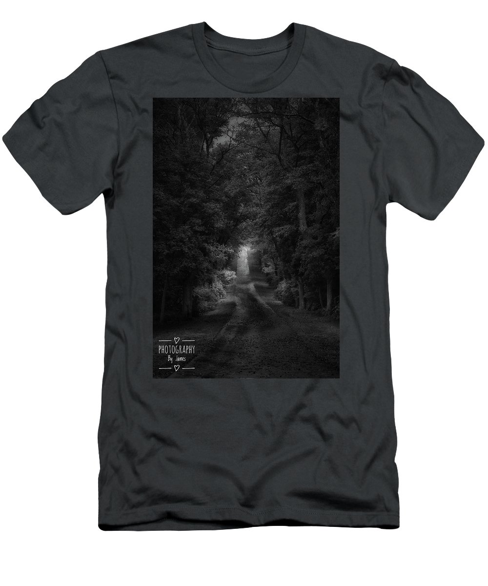 Men's T-Shirt (Athletic Fit) featuring the photograph The Path by James Caine