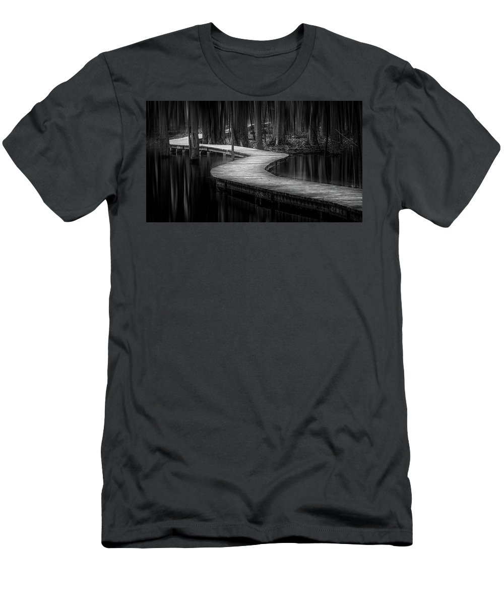 Nature Men's T-Shirt (Athletic Fit) featuring the photograph The Path Of Life by Yves Keroack