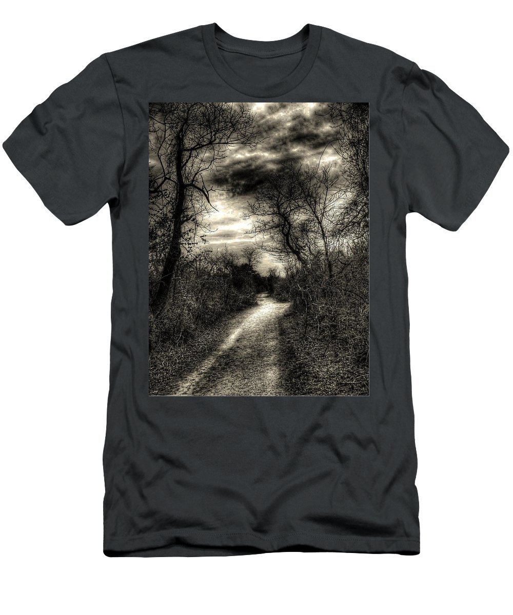 New York Men's T-Shirt (Athletic Fit) featuring the photograph The Path Seldom Taken by Jeff Watts