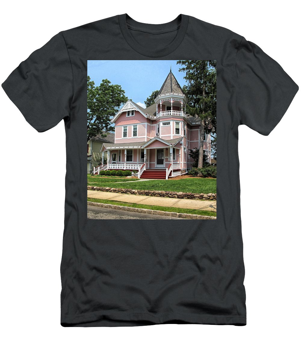Pink Men's T-Shirt (Athletic Fit) featuring the photograph The Pink House 2 by Dave Mills