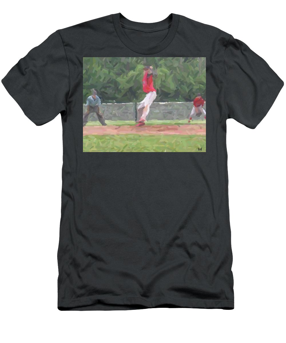 Digital Men's T-Shirt (Athletic Fit) featuring the digital art The Pitch by Maria Watt