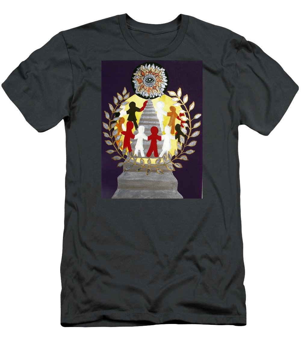 Masonic Men's T-Shirt (Athletic Fit) featuring the painting The Poet Lauriat by Arlene Wright-Correll