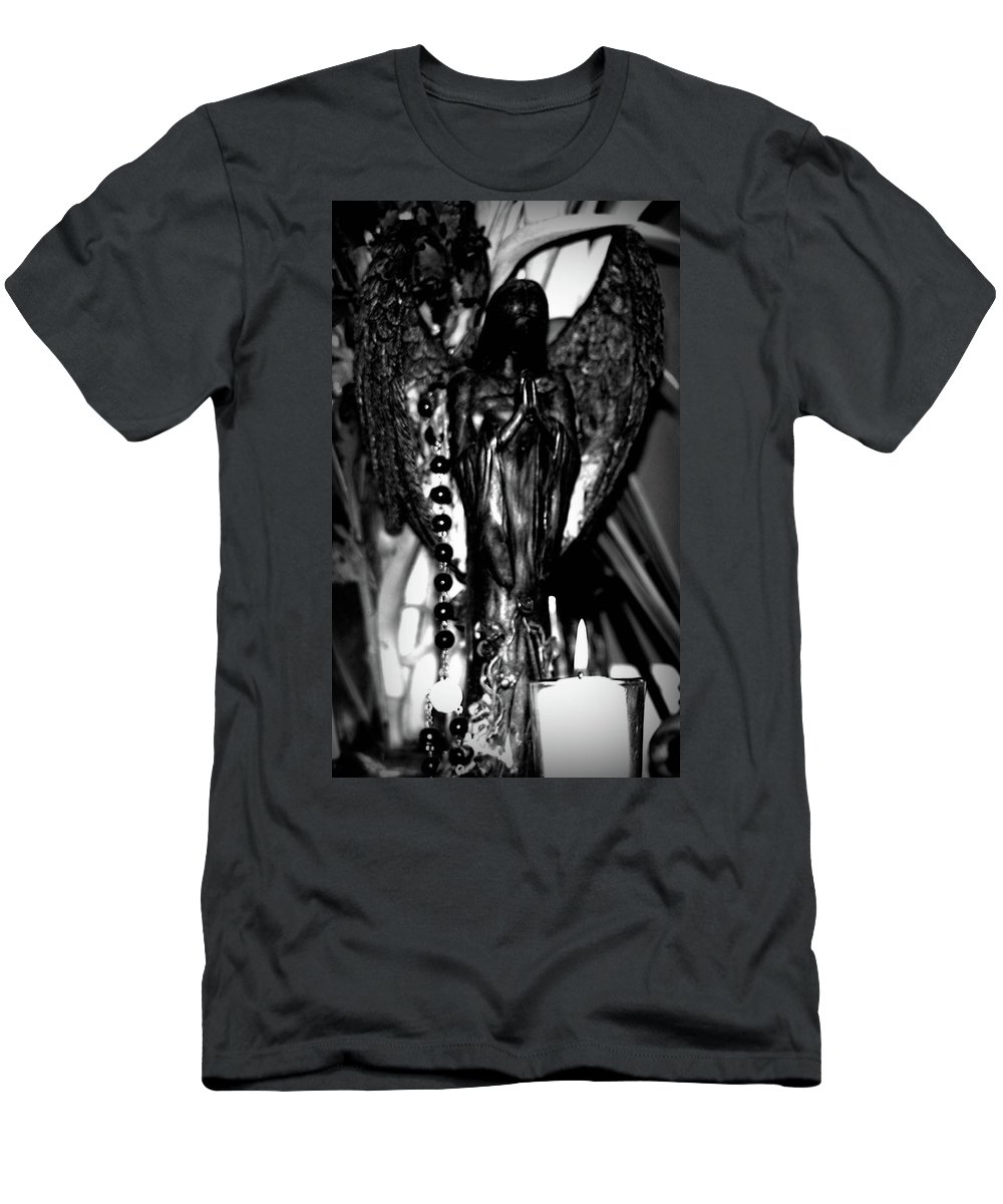 Angel Men's T-Shirt (Athletic Fit) featuring the photograph The Prayer by Frances Lewis