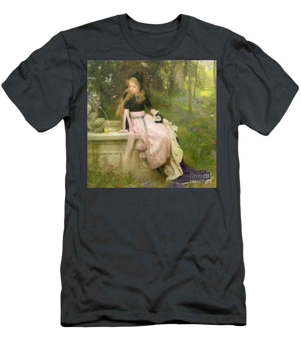 The Men's T-Shirt (Athletic Fit) featuring the painting The Princess And The Frog by William Robert Symonds