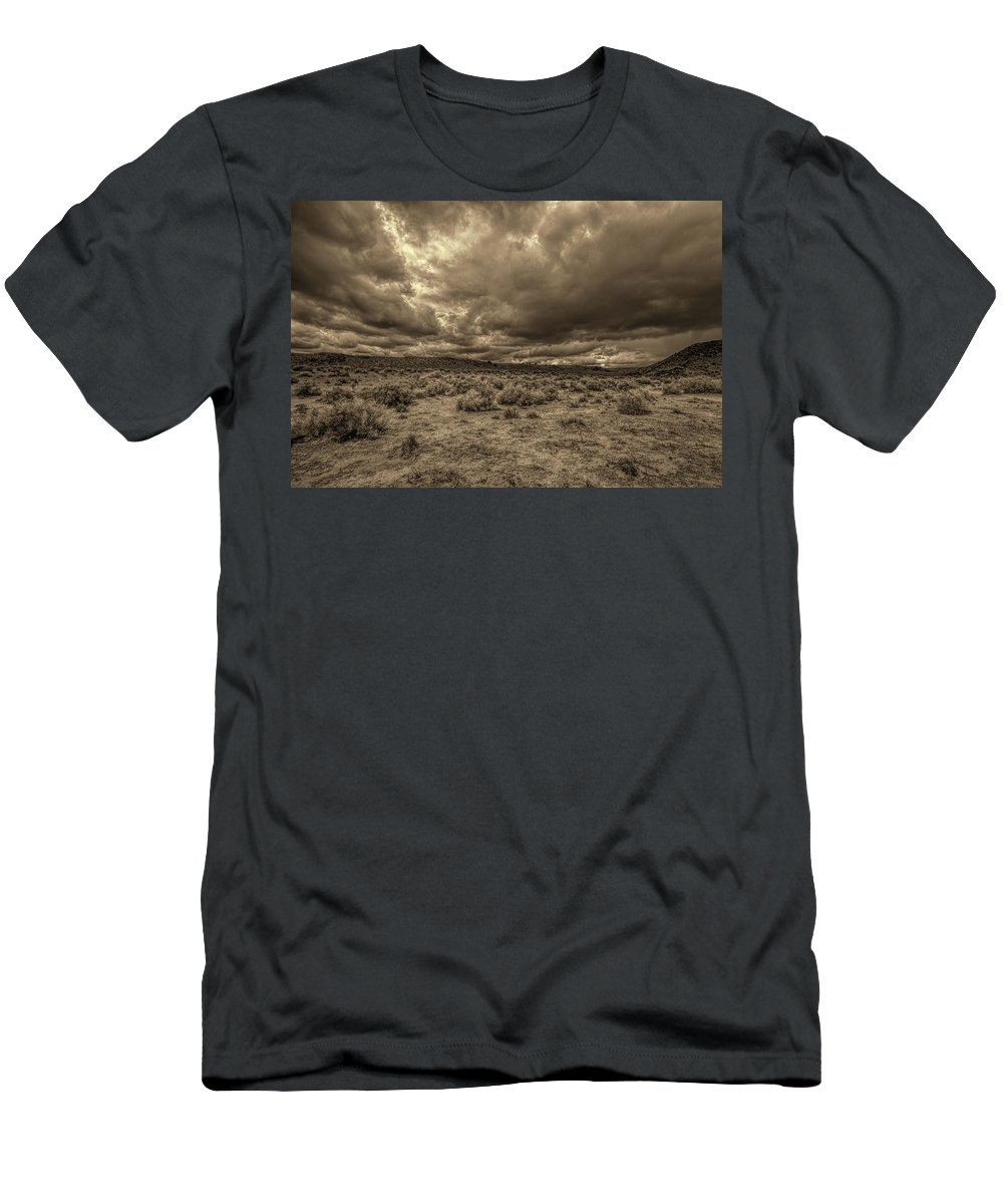 Clouds Men's T-Shirt (Athletic Fit) featuring the photograph The Promise by Jim Buchanan