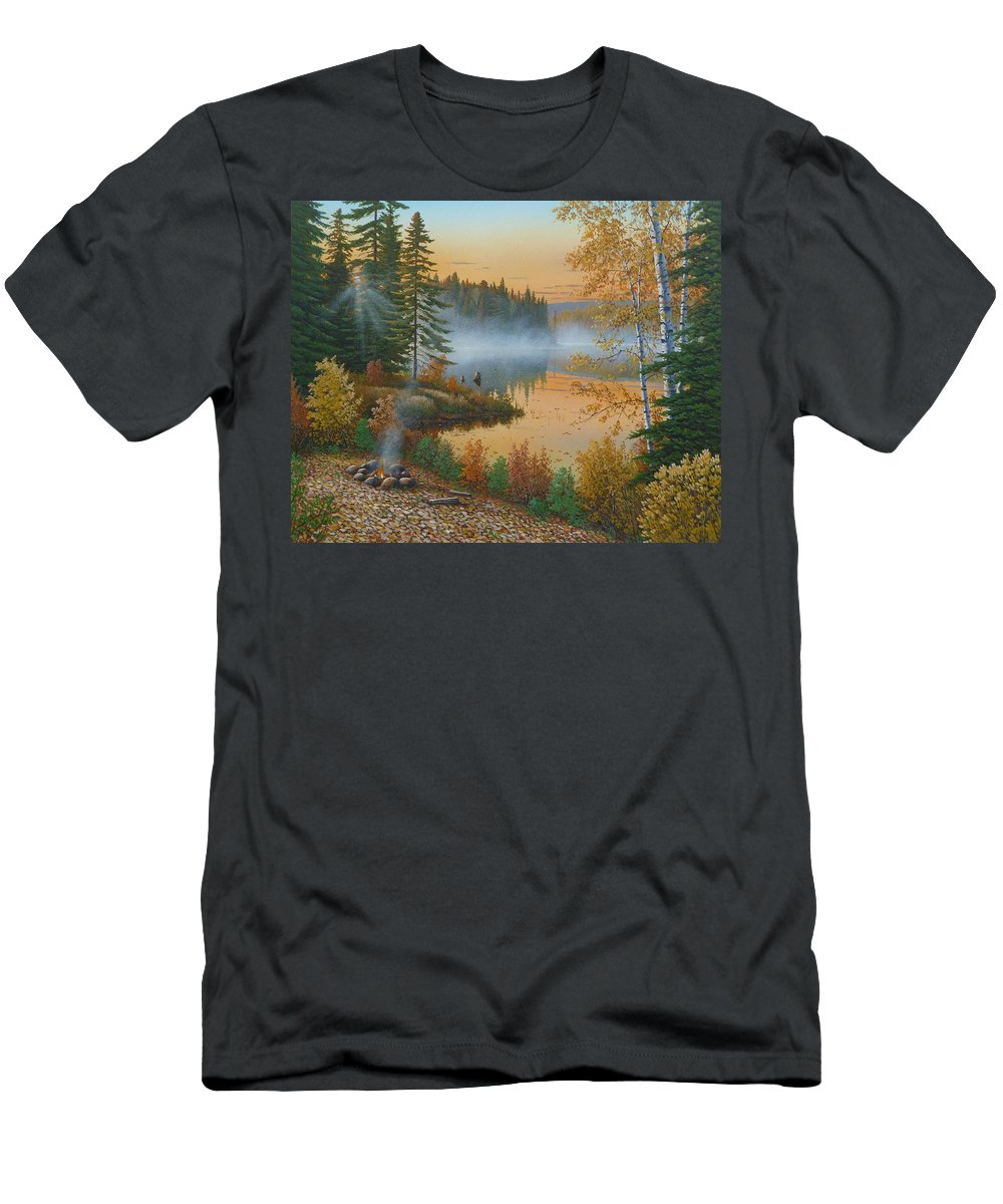 Jake Vandenbrink Men's T-Shirt (Athletic Fit) featuring the painting The Rising Sun by Jake Vandenbrink