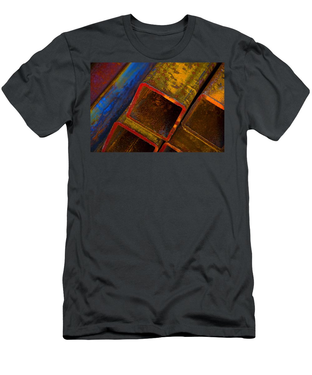 Abstract Men's T-Shirt (Athletic Fit) featuring the photograph The River by Skip Hunt