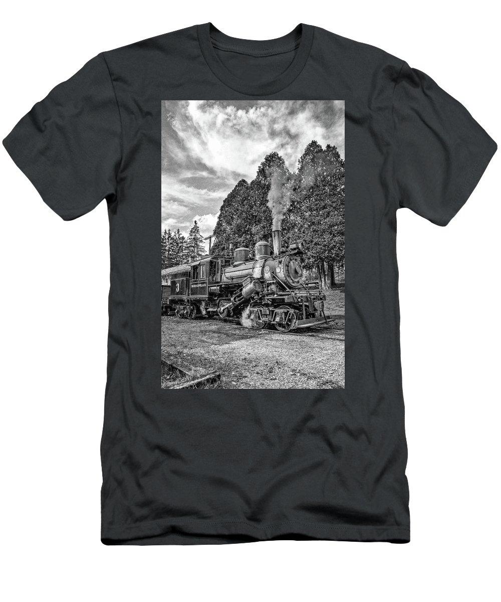 Pocahontas County Men's T-Shirt (Athletic Fit) featuring the photograph The Rocket Monochrome by Steve Harrington
