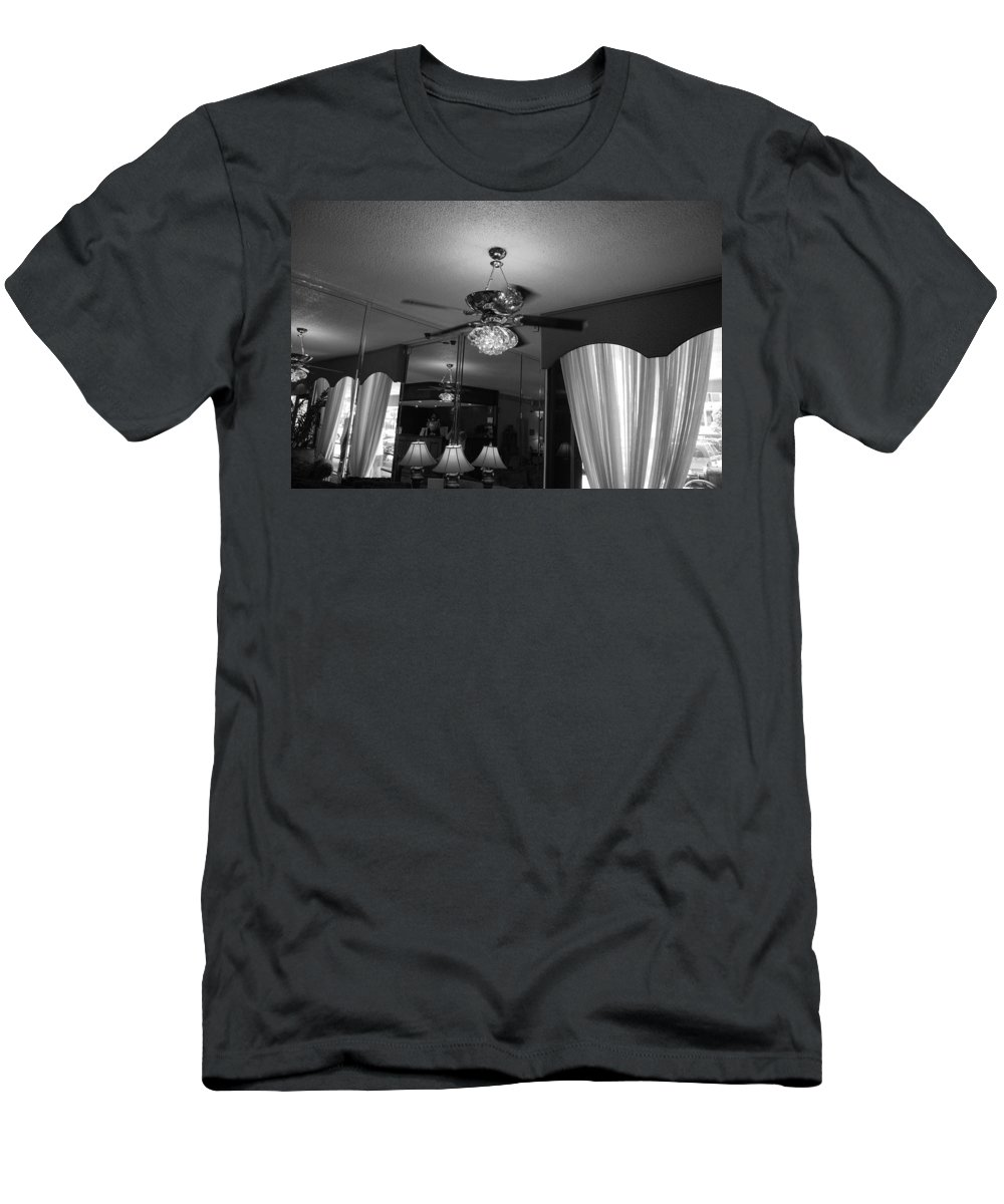 Black And White Men's T-Shirt (Athletic Fit) featuring the photograph The Room With Many Views by Rob Hans