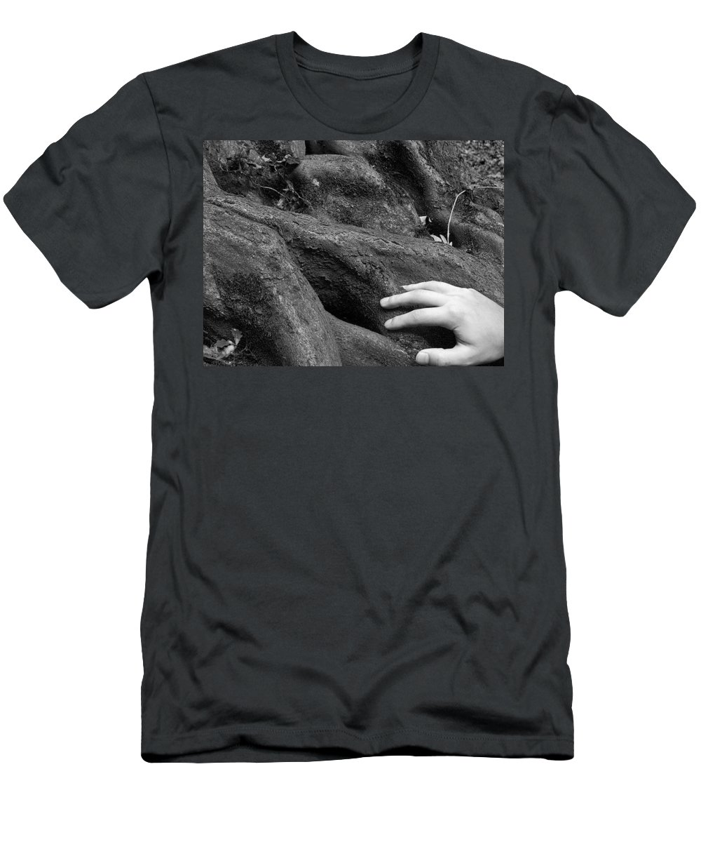 Nature Men's T-Shirt (Athletic Fit) featuring the photograph The Roots by Daniel Csoka