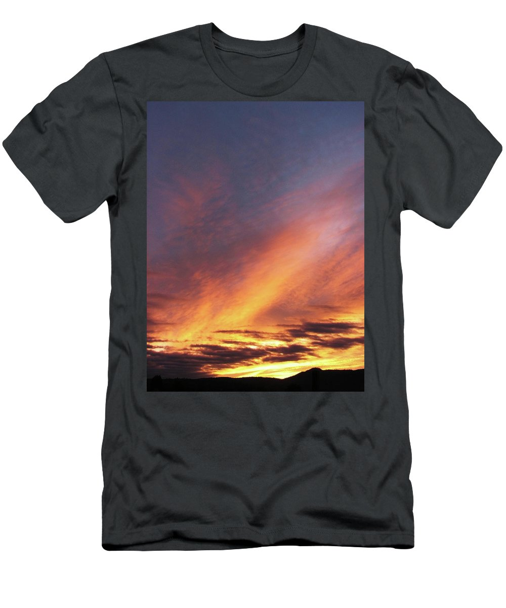 Yellow Men's T-Shirt (Athletic Fit) featuring the photograph The Sky How It Moves Me by Teri Schuster