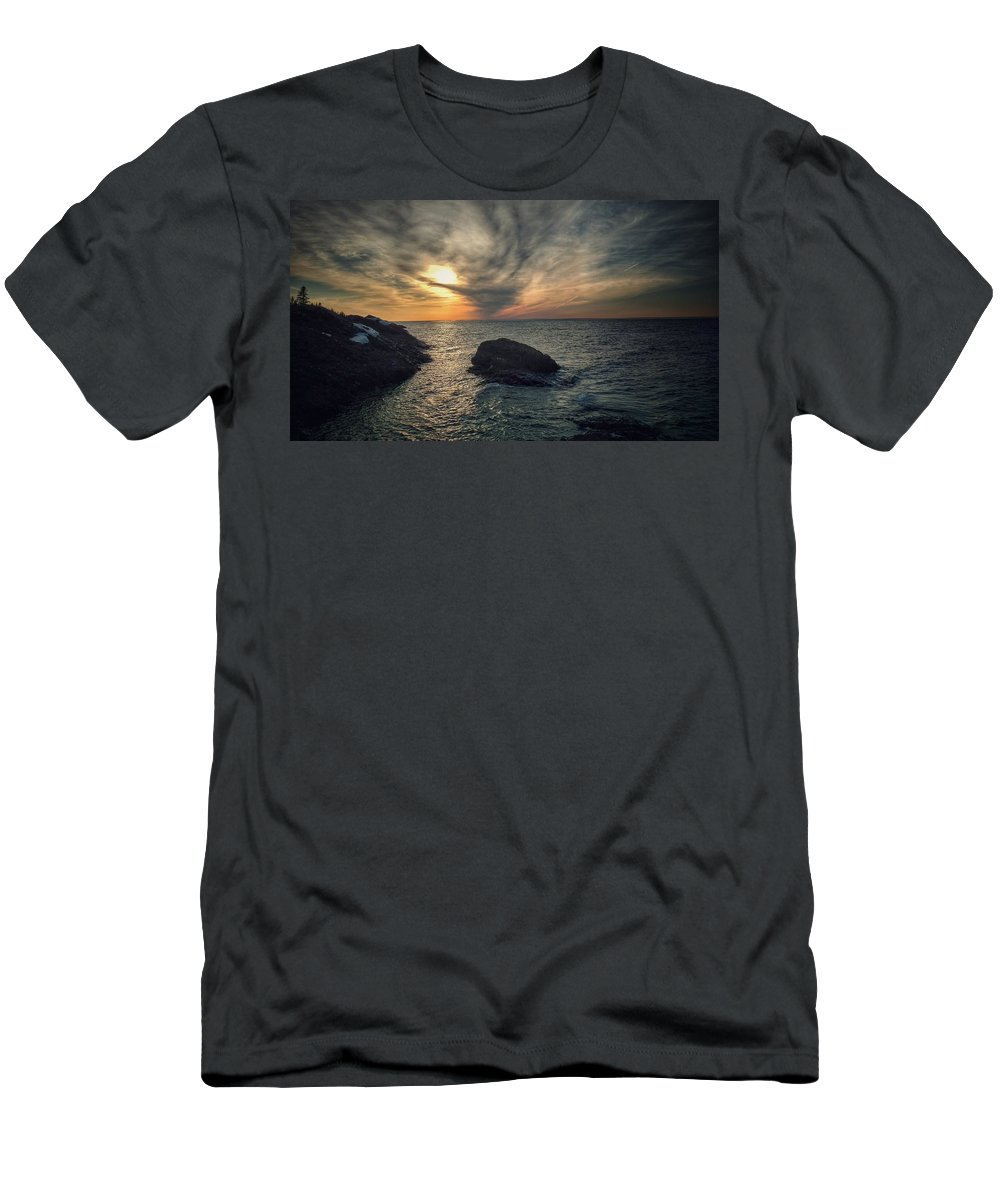 Men's T-Shirt (Athletic Fit) featuring the photograph The Slow Dance by Scott Wendt Tom Wierciak
