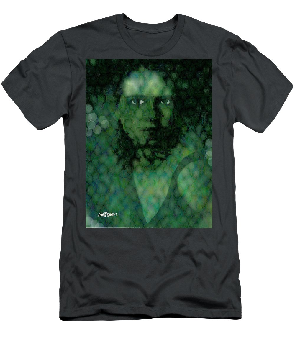 Bizarre T-Shirt featuring the digital art The Snake Lady by Seth Weaver
