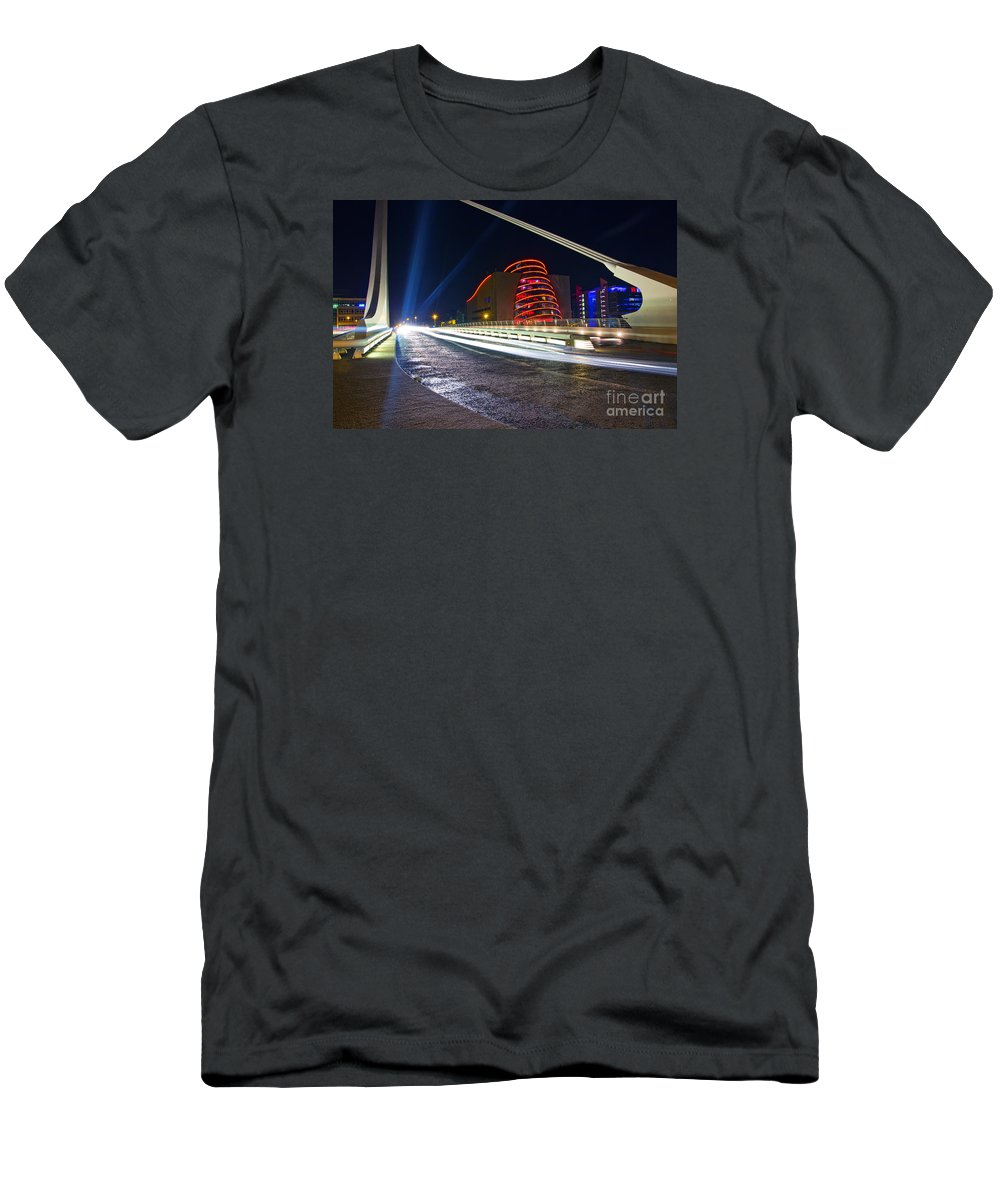 The Convention Centre Reflection Men's T-Shirt (Athletic Fit) featuring the photograph The Speed Danger by Alex Art and Photo